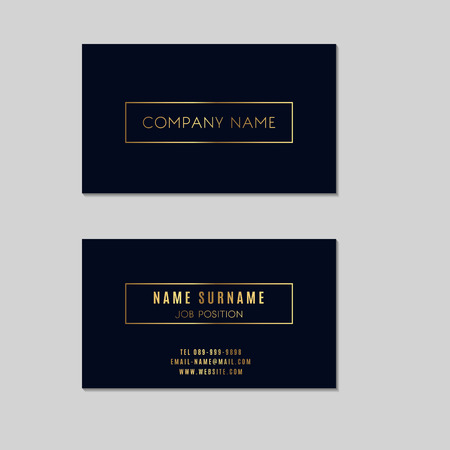 minimal: Premium Minimal Vector Business Card Design