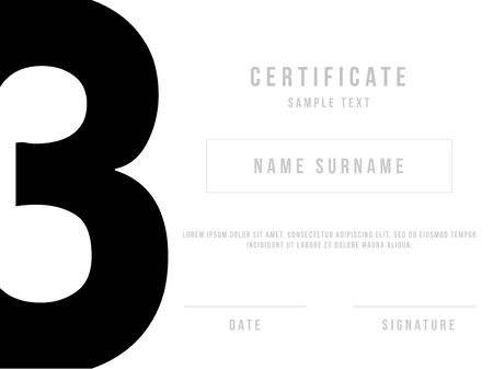 minimal: Vector Certificate Template with Premium Minimal Design
