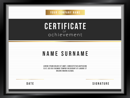 certificate template: Vector Certificate Template with Premium Minimal Design