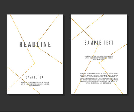 booklet design: Luxury Minimalism Design Vector Template Layout For Magazine Brochure Flyer Booklet Cover Annual Report