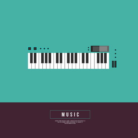 remix: Graphic Design Musical on World off Concept - Synthesizer in Minimal Style