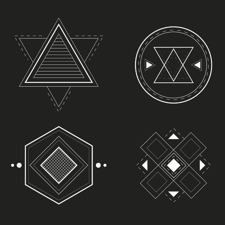 illuminati: Set of Geometric Design, vector