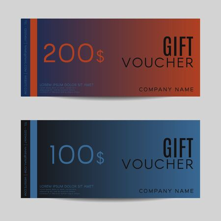 restaurant bill: Gift Voucher template - Vector illustration Illustration