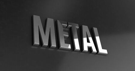 metal letters: Metal - Luxury Letters Design illustration of business performance and commercial motivation- 3d Rendering