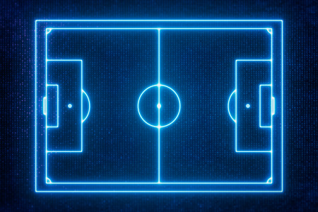 goal line: Goal Line Technology , Top view of soccer field or football field