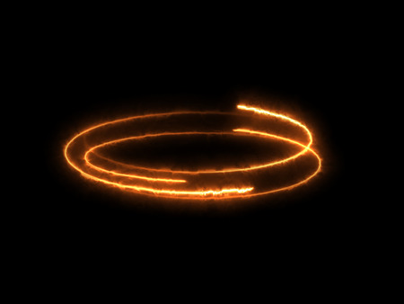 Abstract Fire Effect Element Design on Black Background