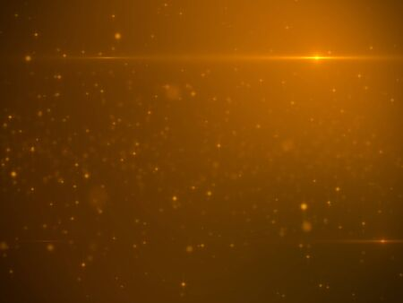 GLOD: Beautiful Glod Particles with Lens Flare - Luxury Background Design Element Stock Photo