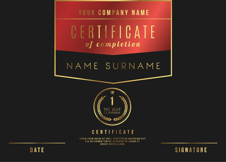 Vector certificate template design with luxury best company award vector certificate template design with luxury best company award vector yadclub Choice Image