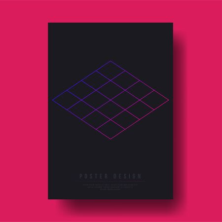 notebook cover: Abstract Geometric Shapes Cover Design Layout Template. Illustration