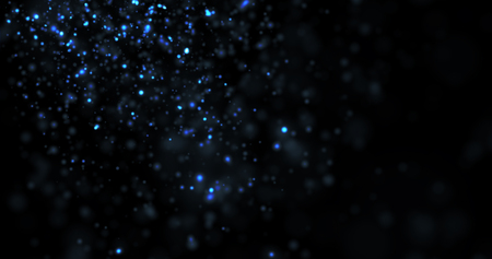 Abstract Blue Glitter on Black Background