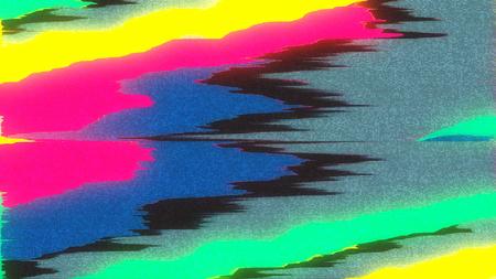 ユニークなデザインの抽象デジタル ピクセル ノイズ不具合エラーのビデオ損傷 写真素材