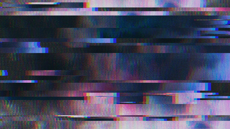 Unique Design Abstract Digital Pixel Noise Glitch Error Video Damage Zdjęcie Seryjne