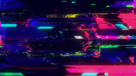 Unique Design Abstract Digital Pixel Noise Glitch Error Video Damage Stok Fotoğraf