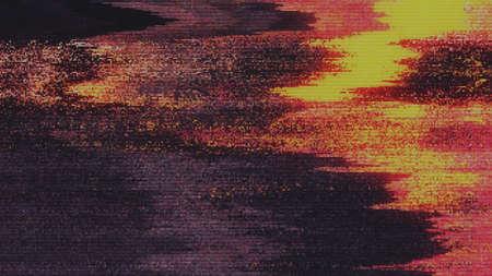 Unique Design Abstract Digital Pixel Noise Glitch Error Video Damage Foto de archivo