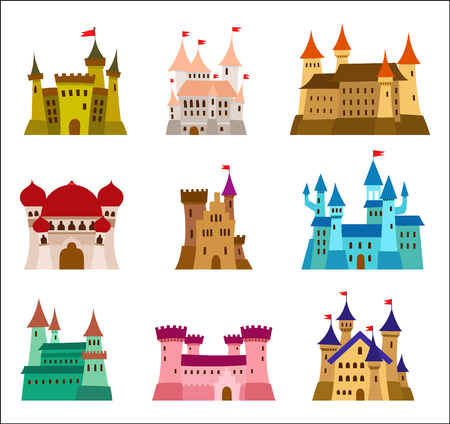 Set of Princess Castles Ilustrace