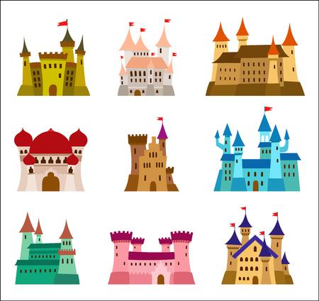 Set of Princess Castles Illustration