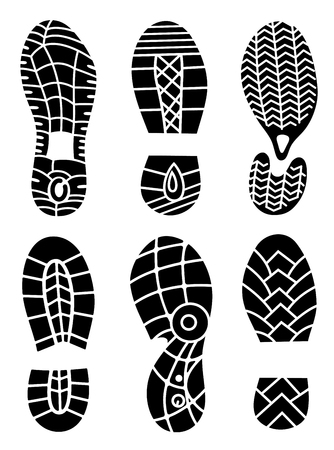 Footprint icons.