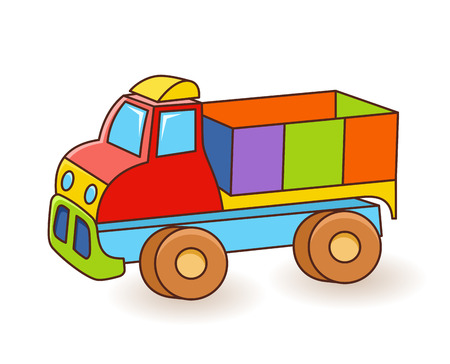 Toy Truck illustration isolated on white background