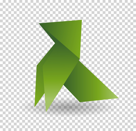 Vector - dog origami animal geometric isolatet on white background.