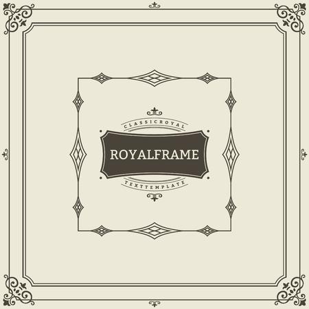 Modèle de vecteur de carte de voeux ornement vintage. Invitation de luxe rétro, certificat royal. Cadre fleuri. Fond vintage, cadre vintage, ornement vintage, vecteur d'ornements, cadre ornemental.
