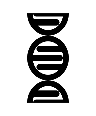 Abstract DNA strand symbol. Isolated on white background. Vector concept illustration Ilustracja