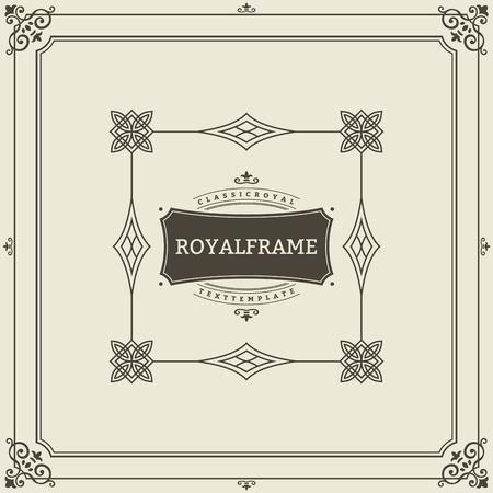 Vintage Ornament Grußkarte Vektor Vorlage. Retro Luxus Einladung, Royal Certificate. Blüht Rahmen. Vintage Hintergrund, Vintage Rahmen, Vintage Ornament, Ornament Vektor, Ornamental Frame.