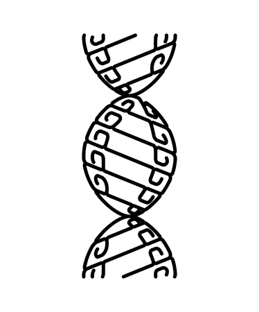 Abstract DNA strand symbol. Isolated on white background. Vector concept illustration Illustration