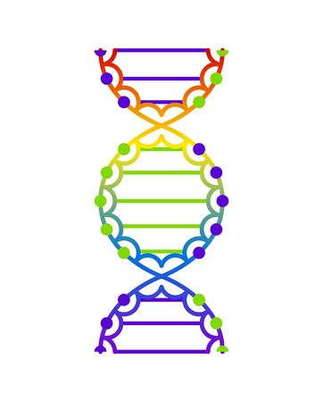 Abstract DNA strand symbol. Isolated on white background. Vector concept illustration 일러스트