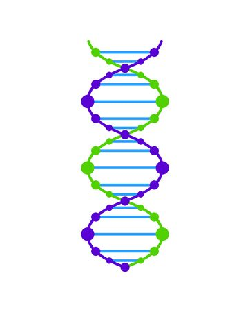 Dna icon vector. Dna vector graphic illustration.