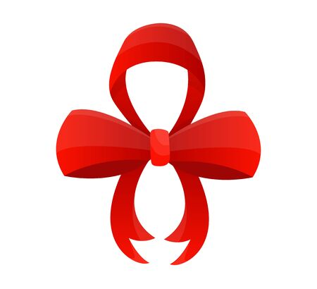 Arc rouge. Illustration vectorielle sur fond blanc. Peut être utilisé pour des cadeaux de décoration, des salutations, des vacances, etc.