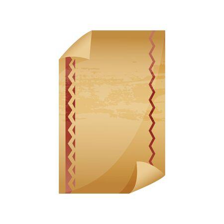 Rouleau de papier ancien ou ancien. Rouleaux verticaux ou manuscrit ancien, papyrus obsolète, modèle d'arrière-plan pentateuch roulé. Histoire et religion, thème de la sagesse.
