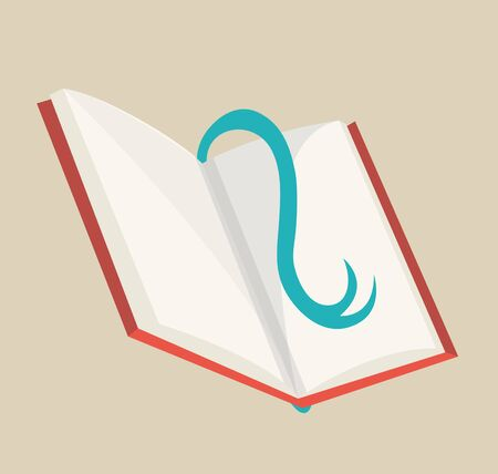 Open book with bookmark. Colorful book icon, vector illustration. Learn and study. Education and knowledge. Reading, learn and receive education through books