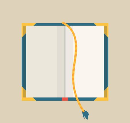 Open book with bookmark. Colorful book icon, vector illustration. Learn and study. Education and knowledge. Reading, learn and receive education through books.