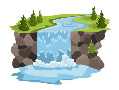 Natural resources design. Vector illustration of national treasure water. Illustration of alternative enrgy industry Иллюстрация