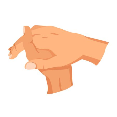 Female hand sign. Human finger gesture sign. Sign language. Isolated vector illustration 向量圖像