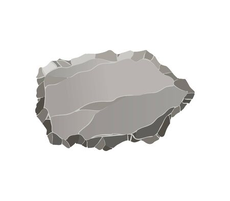Stone game element. Cartoon rock ui element for game design isolated on white. Rock interface buttons