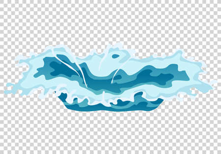 Vector frame water splash for game animation. Water explosion special effect fx animation frame on transparent background. Stock Illustratie