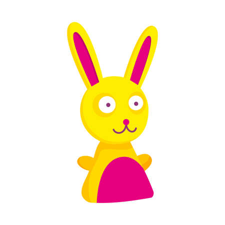 Children toy. Cute funny toy for little kid. Vector rabbit Stockfoto - 151908672