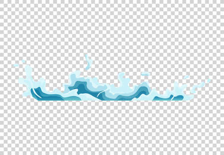 Water splash animation. Shock waves on transparent background. Spray motion, spatter blast, drip. Clear water frames for flash animation in games, video and cartoon