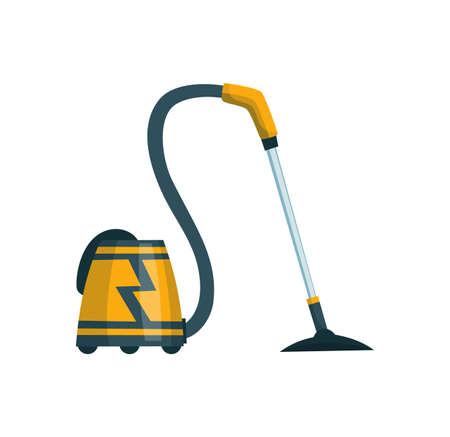 Vacuum cleaner modern icon. Carpet cleaner item or washing robot cyclone. Cartoon vector cleaning equipment for home, office or car