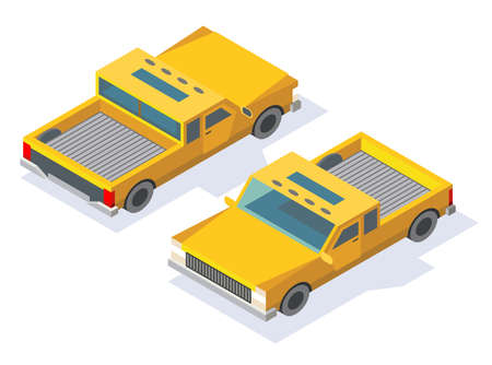 Modern isometric car icon design. Urban transport for passenger or service. Car with shadow. Transportation technology for infographics or web and game design