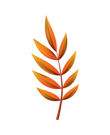 Autumn leave. Symbol with watercolor texture, vector illustration. Isolated design element tree leaf. Leave for seasonal greeting card design
