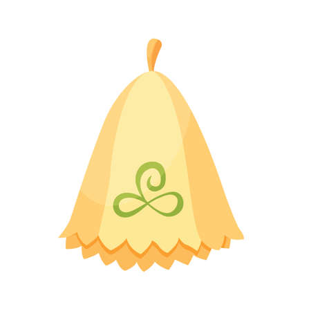Bath house sauna headwear icon. Item for pleasure and relaxing. Vector illustration of steam bath accessory