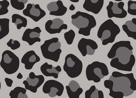 Leopard texture. Seamless print with wild animal skin. Leopard or cheetah nature design pattern. Wild animal skin monochrome print. Vector illustration background Stock Illustratie