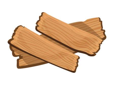 Wooden signboard. Cartoon brown wooden plate. Old guidepost, vintage restaurant signpost or advertising design concept. Banner template Stock Illustratie