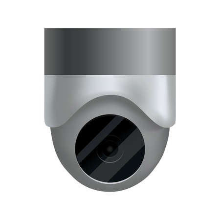 Security camera. Decorative surveillance camera. Safety home protection system. Illustration of vector cctv and camera sign