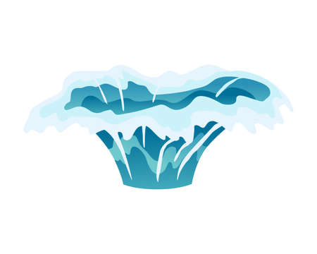 Water splash animation. Dripping water special effect. Fx sheet. Clear water drop burst for flash animation in games and video. Cartoon frame