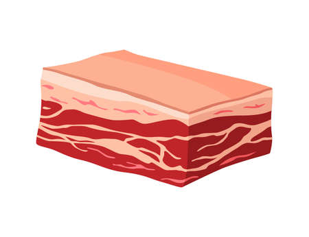Meat product or raw meat. Illustration for concept product of farmers market or shop. Sponder. Cartoon product icon