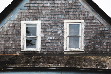Abandoned house near the Oregon coast. Stock Photo