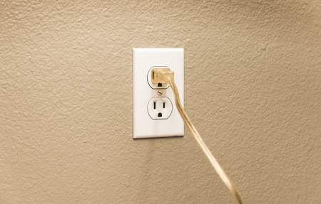 Power Outlet with Cable Plugged In